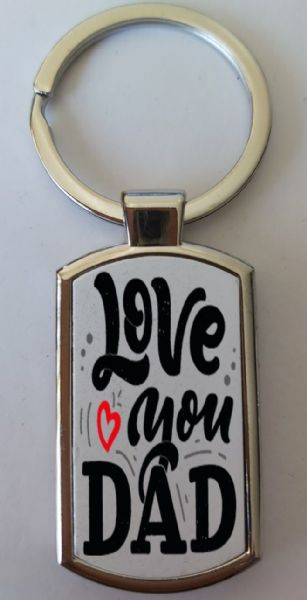 Father's Day Metal Rectangle Key Ring Design 26